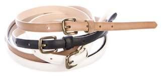 Max Mara Weekend Leather Buckle Belt Set