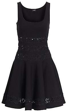 Giambattista Valli Women's Lace Inset Fit-&-Flare Dress