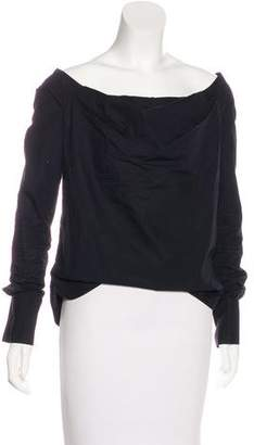 Dolce & Gabbana Off-The-Shoulder Long Sleeve Top