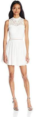 Speechless Junior's Lace and Chiffon Two-Piece Dress