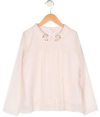 Billieblush Girls' Embellished Chiffon Top