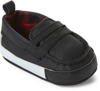 Rising Star (Infant Boys) Black Penny Loafers