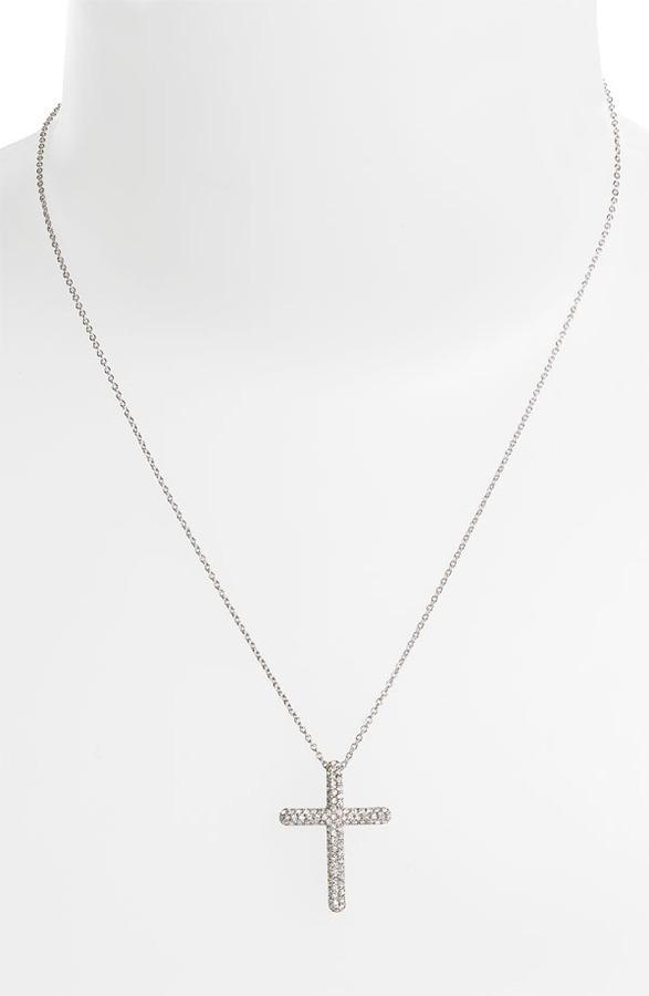 Nadri Cross Pendant Necklace (Nordstrom Exclusive)