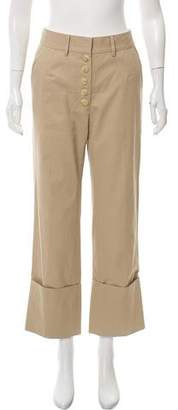 Nellie Partow High-Rise Button Front Pants