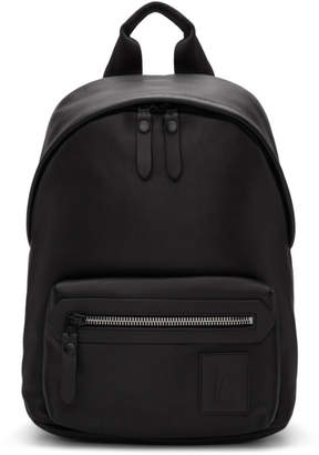 Lanvin Black Logo Patch Backpack