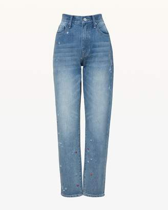 Juicy Couture JXJC Floral Embroidered Girlfriend Jean