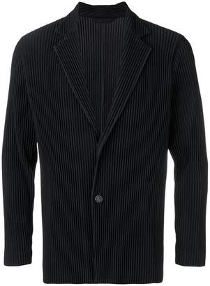 Issey Miyake Homme Plissé pleated single-breasted blazer