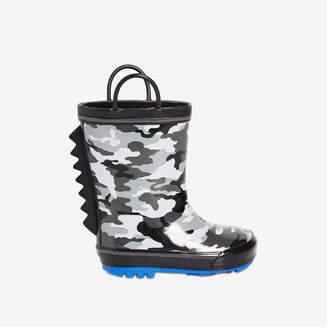 Joe Fresh Toddler Boys' Rain Boots, Black Mix (Size 6)