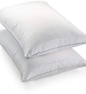Charter Club 50% European Feather & 50% European Down Soft Density Standard/Queen Pillow, Hypoallergenic UltraClean Down, Created for Macy's Bedding