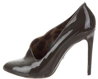 Dolce & Gabbana Patent Leather Pointed-Toe Booties