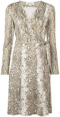 749a91f2a309 Diane von Furstenberg Python print wrap-front dress