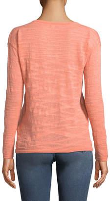 Minnie Rose Lightweight Solid Henley Sweater