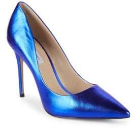 Saks Fifth Avenue Metallic Leather Pumps