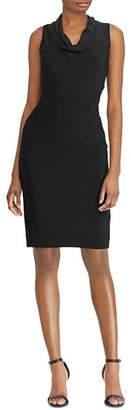 Ralph Lauren Sleeveless Cowl-Neck Dress