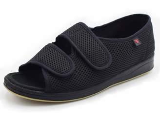 Mei MACLEOD Womens Comfortable Indoor/Outdoor Sandals with Adjustable Straps Slippers,Diabetic Flat Feet Arthritis Edema Shoes