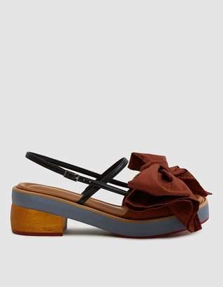 Marni Bow Wrap Sandal in Raisin