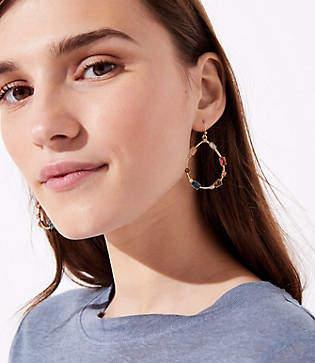 LOFT Stone Ring Drop Earrings