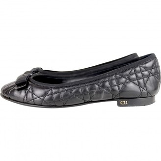 Christian Dior Black Leather Ballet flats