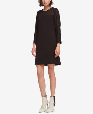 DKNY Sheer-Trim Shift Dress, Created for Macy's