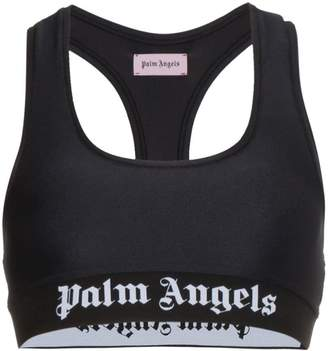 Palm Angels Sports Logo Crop Top