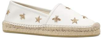 Gucci Pilar Bee Embroidery Espadrille