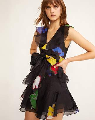 Cynthia Rowley Rainbow Wallflower Ruffle Dress