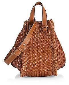 Loewe Women's Medium Hammock Woven Leather Bag