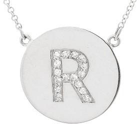 Jennifer Meyer Diamond Letter Necklace - R - White Gold