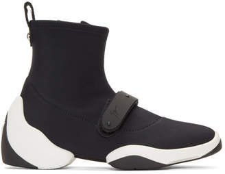 Giuseppe Zanotti Black Carlito Stretch High-Top Sneakers