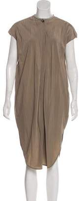 Brunello Cucinelli Silk Cap Sleeve Dress