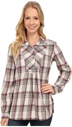 Royal Robbins Sugar Pine Plaid Long Sleeve Tunic Women's Blouse