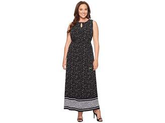 MICHAEL Michael Kors Size Nora Border Maxi Dress Women's Dress