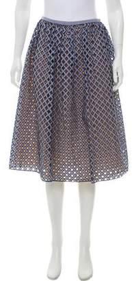 Michael Kors Printed Eyelet Skirt w/ Tags