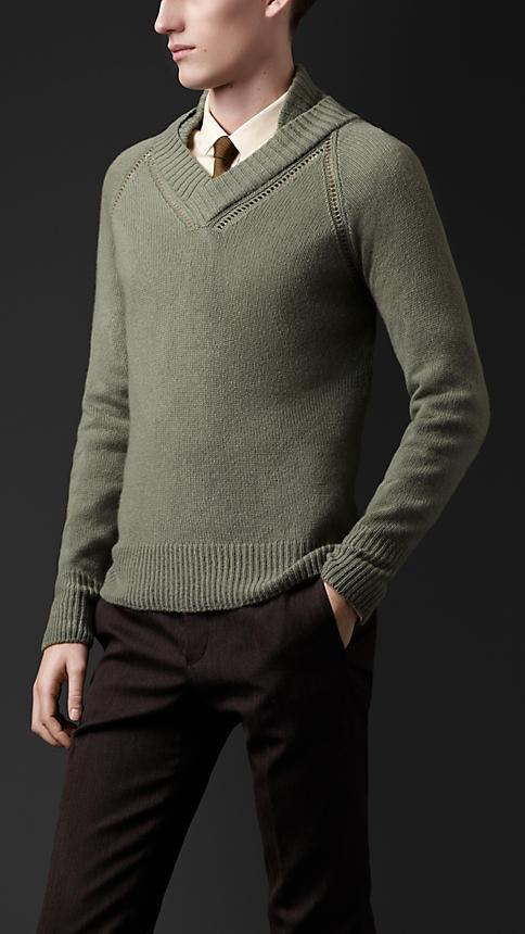 Burberry Open-Stitch Cashmere Sweater