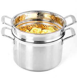 Le Creuset Tri-Ply Stainless Steel 7.5 Qt. Multi Pot with Pasta Insert