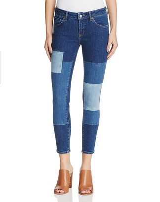 Mavi Adriana Icon Ankle Jeans in Blocking Indigo - 100% Exclusive $118 thestylecure.com