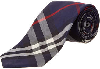Burberry Modern Cut Check Silk Twill Tie