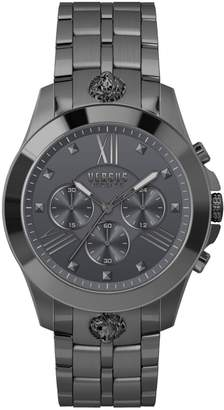 Versace GunMetal Grey Stainless Steel Chronograph Watch