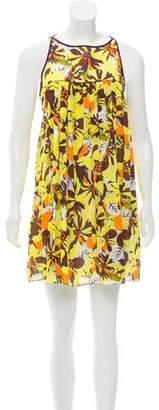 Milly Floral Print Mini Dress w/ Tags