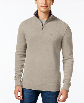 Tommy Hilfiger French Rib Quarter-Zip Sweater $79.50 thestylecure.com