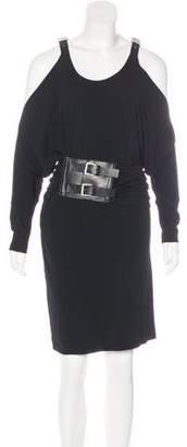 Michael Kors Cold-Shoulder Midi Dress