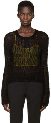 Haider Ackermann Black Open-Knit Sweater