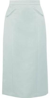 ALEXACHUNG Satin Midi Skirt