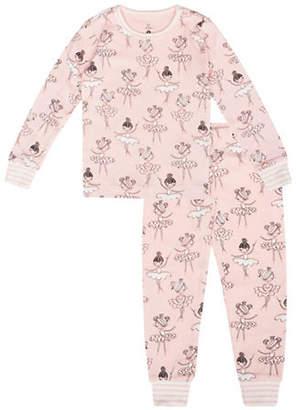 Petit Lem Princess Ballerina-Print Cotton Pajamas