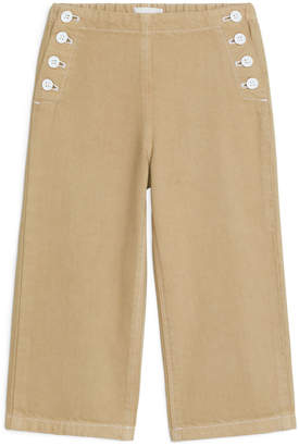 Arket Cropped Sailor Trousers