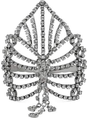 Gucci Metal palm cuff with crystals