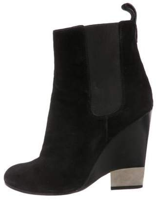 Givenchy Suede Round-Toe Ankle Boots Black Suede Round-Toe Ankle Boots