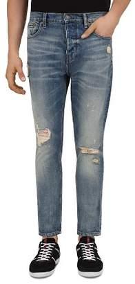 The Kooples Blue Slim Fit Jeans in Blue Denim