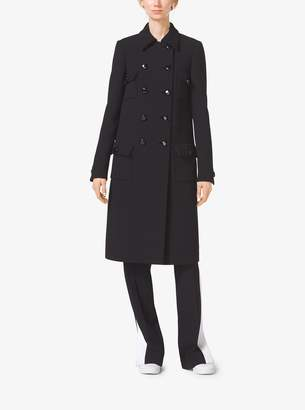 Michael Kors Duvetine Crepe Admiral's Coat