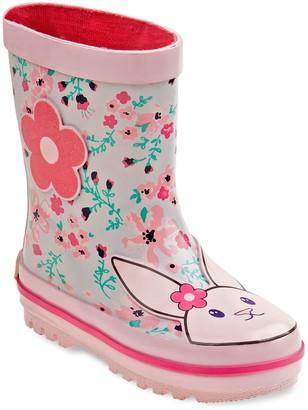 Laura Ashley Lifestyles Bunny Girls' Waterproof Rain Boots